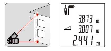 Вычисление высоты по двум точкам