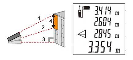 Вычисление отрезка высоты по трём точкам